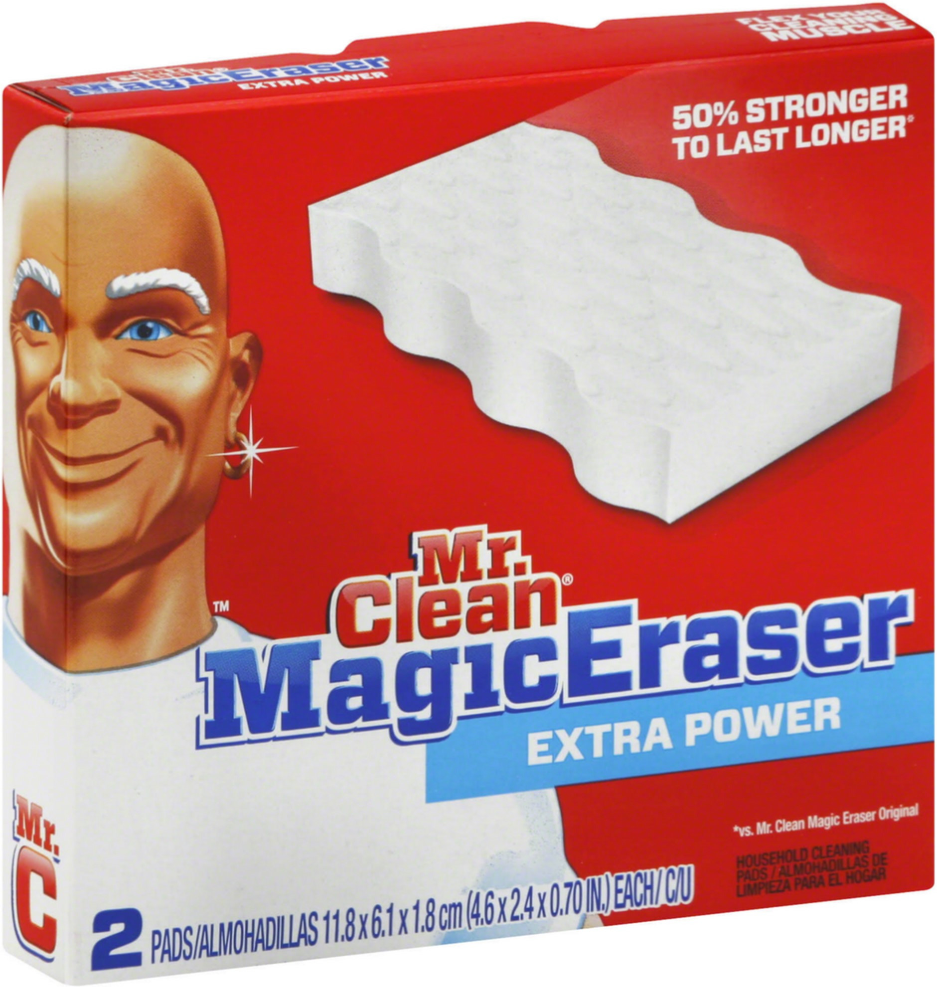 6 Pack - Mr. Clean Magic Eraser, Extra Power 2 ea