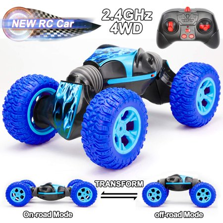 Rc Cars Toy for Boys, Remote Control Car Toys Race Car for Kids Boys Girls Age 6 7 8 9 10 11 12 -16 Year Old Birthday Gifts 4WD 2. 4Ghz Dual Mode 360° Rotating Racing Car, Kids Toys Buggy Hobby Car ()