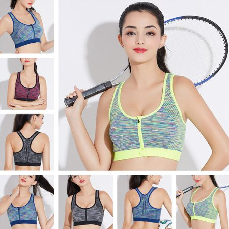 7f88c9681cb Fitbest - Sports Bra-Fitbest Women s High Impact Front Closure Racerback  Full Support Sports Bra Padded Fitness Workout - Walmart.com