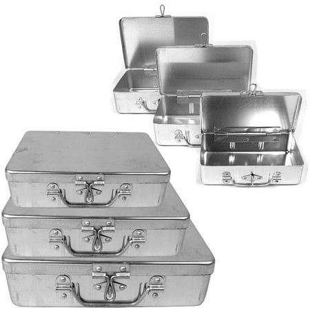 Stalwart 3-Piece Aluminum Storage Box with Lockable Clasp and Handle