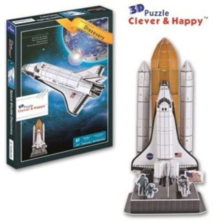 Space Shuttle Discovery With Booster Rockets 3 D Model Kit (Rocket Space Museum)