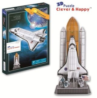 Space Shuttle Discovery With Booster Rockets 3 D Model Kit