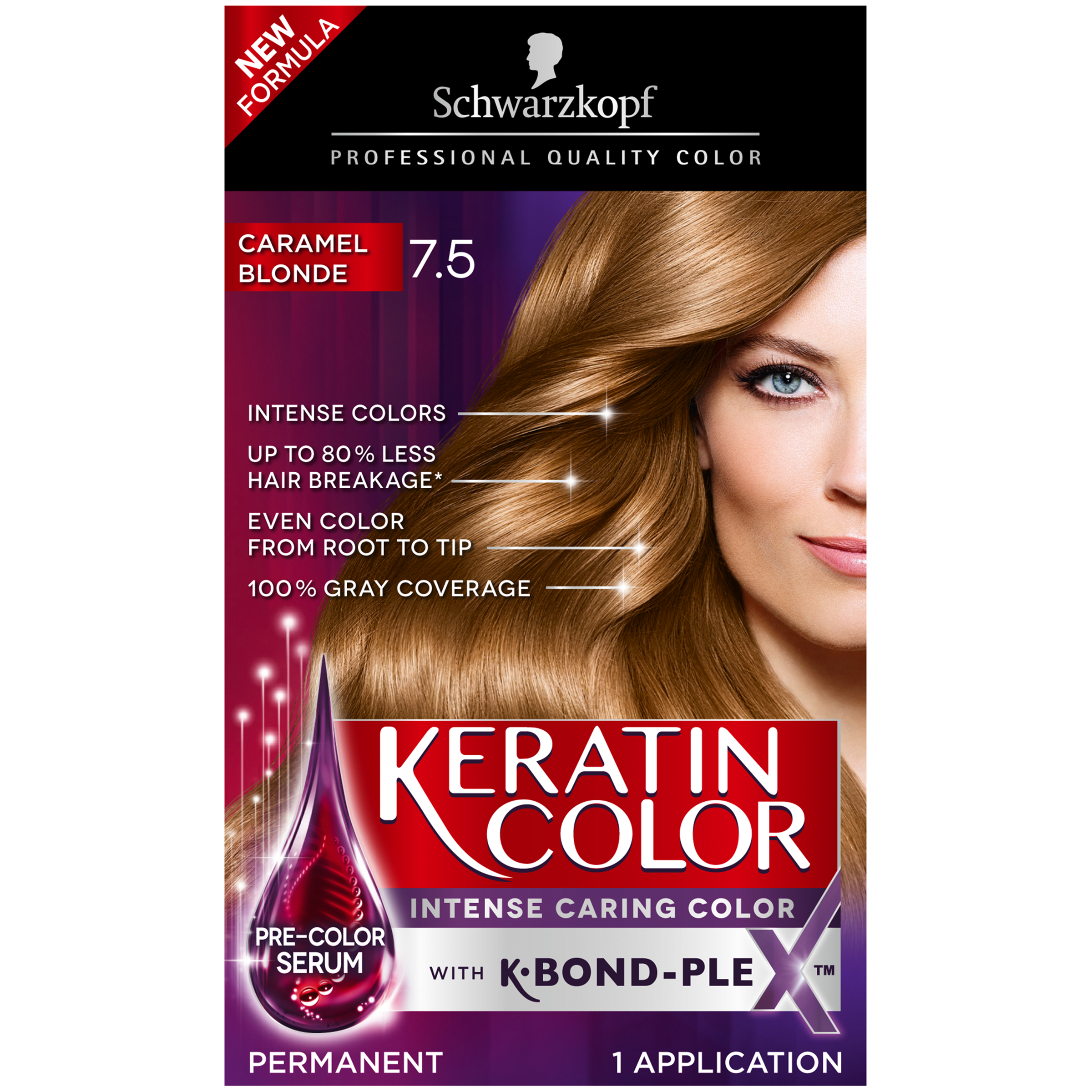 Schwarzkopf Keratin Color Permanent Hair Color Cream, 5.5 Cashmere Brown