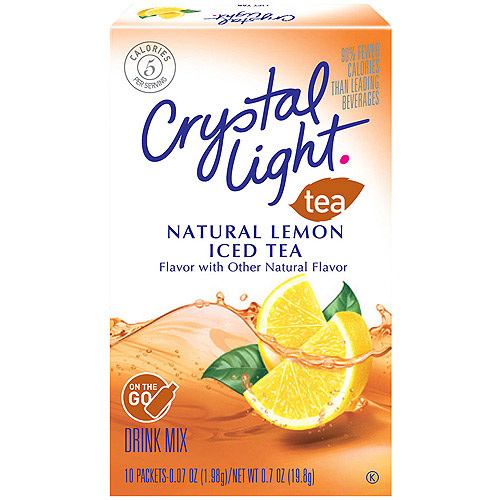 CCrystal Light On The Go Sugar Free Iced Tea Mix, 10 Ct