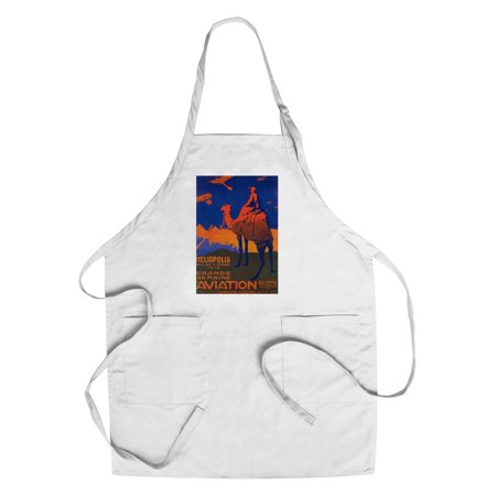 Cairo, Egypt - French Airline - Vintage Travel Advertisement (Cotton/Polyester Chef's Apron)