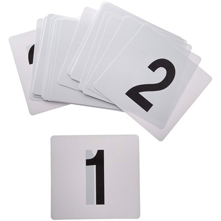 Table Number Cards (Winco TBN-25 1-25 Plastic Table)