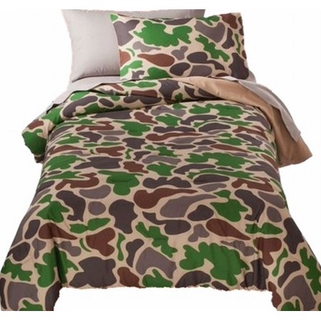 Twin Bed In A Bag Green Camoflauge Comforter Set Sheets Sham 5 Pc Camo Bedding