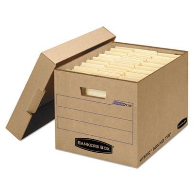 Filing Storage Box With Locking Lid  Letter Legal  Kraft  25 Carton  Sold As 1 Carton  25 Each Per Carton