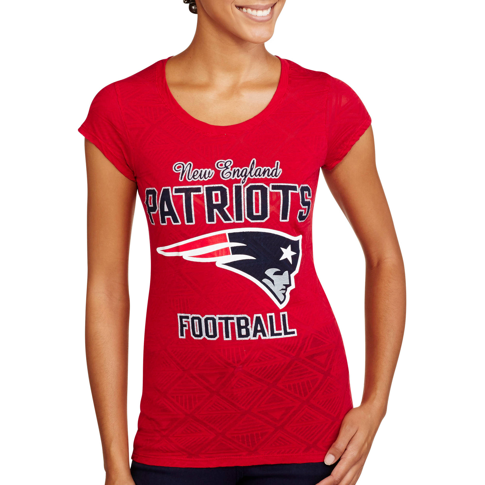 NFL Juniors Patriots Short Sleeve Burnout Tee