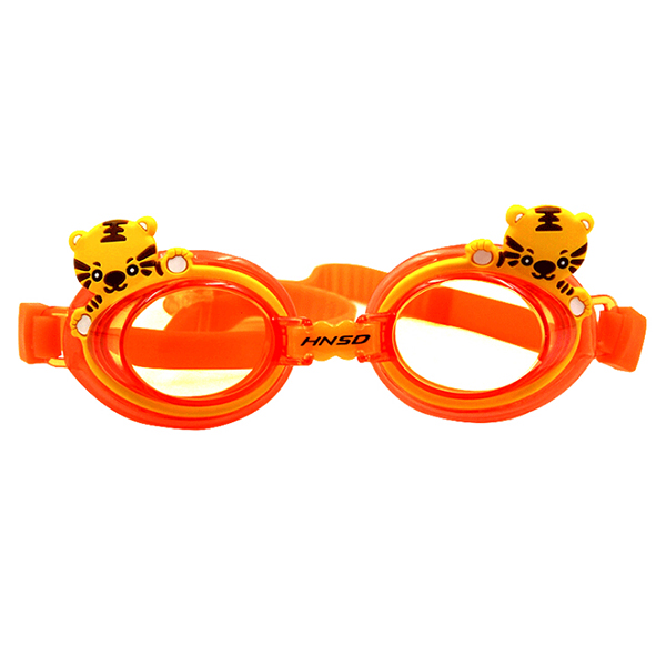HNSD Children Kids Waterproof Silicone Anti Fog Swimming Glasses Goggles Eyewear Eyeglasses(Orange Tiger) by HNSD