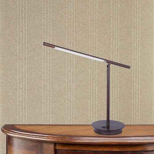 Fangio Lighting Fangio 24.5'' H Table Lamp with Noveltyl Shade