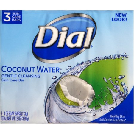 2 Pack - Dial Glycerin Soap Bars Coconut Water & Bamboo Leaf Extract, 4 oz bars, 3 ea