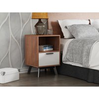 Mainstays Mid-Century Modern 1-Drawer Nightstand, Multiple Finishes