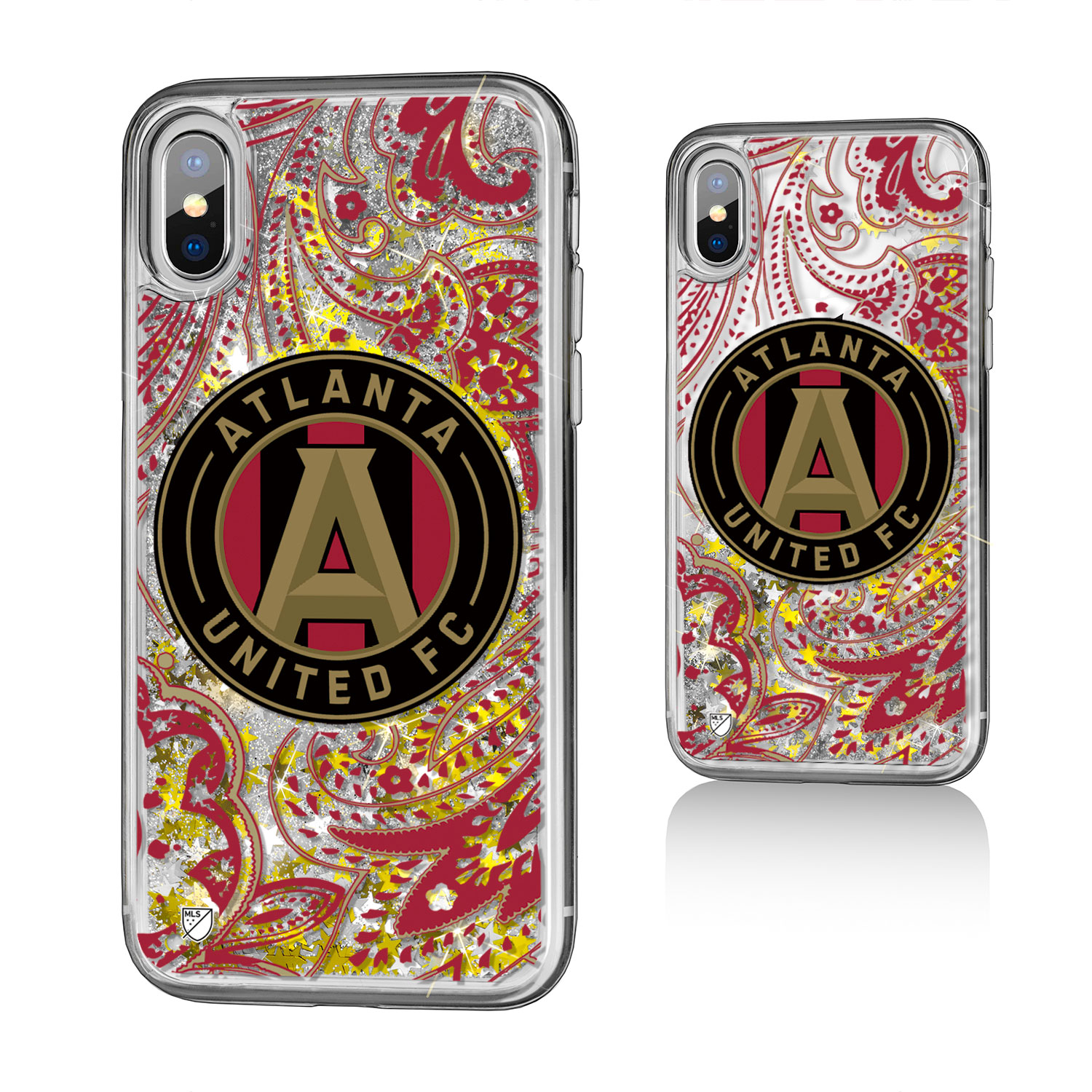 Atlanta United FC ATLUTD Paisley Glitter Case for iPhone X