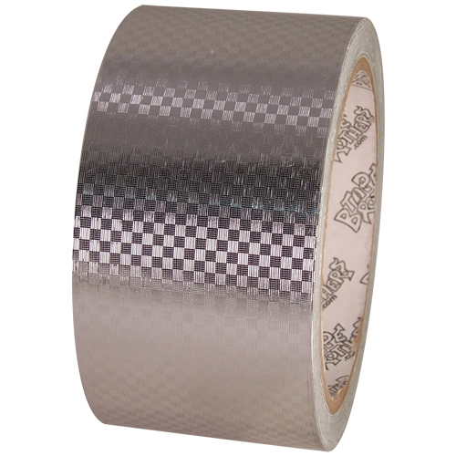 Tape Planet Silver Carbon Fiber 2 inch x 10  yards Metalized PVC Tape