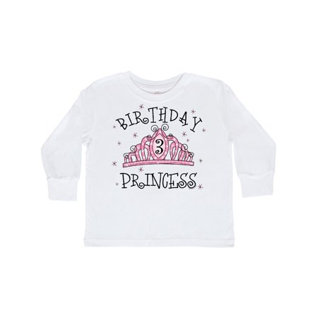 Tiara 3rd Birthday Princess Toddler Long Sleeve T-Shirt