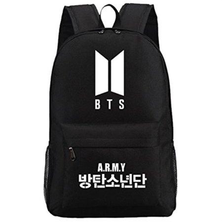 72c72a37eeda JUSTGOGO Luminous Korean Casual Backpack Daypack Laptop Bag College Bag  School Bag Black