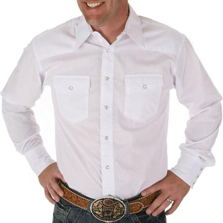 602fb47b6b4 Wrangler Apparel - Wrangler Apparel Mens Pearl Snap Dress Shirt Big Tall -  Walmart.com