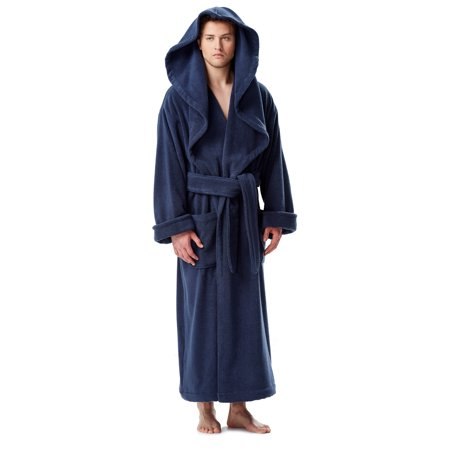 Arus - Men s Luxury Medieval Monk Robe Style Full Length Hooded Turkish  Terry Cloth Bathrobe - Walmart.com f14b68143