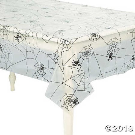 Spider Web Plastic Tablecloth](Spider Web Tablecloth)