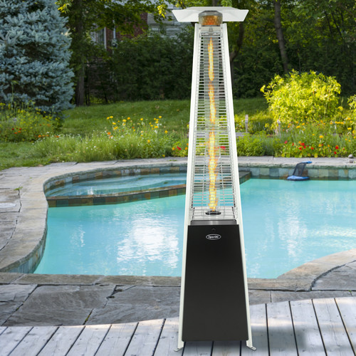 Dyna-Glo DGPH301BL 42,000 BTU Black Pyramid Flame Patio Heater by GHP Group