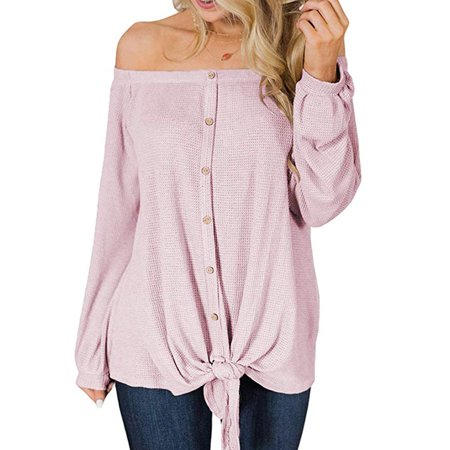 e707523b8940 Issac Live - Womens Casual Off The Shoulder Criss Cross Shoulder Long Sleeve  Loose Pullover Sweatshirt Tops - Walmart.com