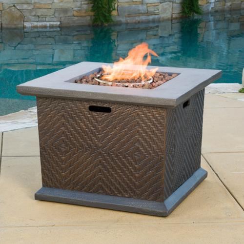Christopher Knight Home Dundee Outdoor 32-inch Square Propane Firepit with Lava Rocks by by Overstock