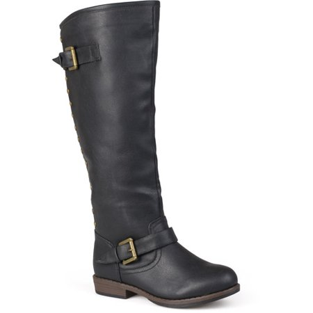 Women's Studded Buckle Detail Boots