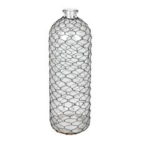 "Vickerman 589113 - 16"" Glass Vase with Black Chicken Wire (FQ193416) Home Decor Vases"
