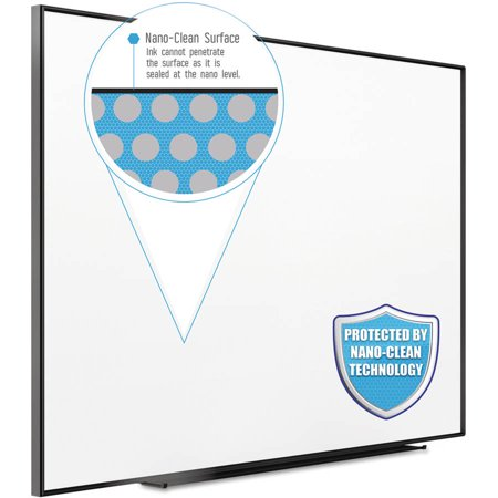 "Quartet Fusion Nano Clean Magnetic Whiteboard, 72"" x 48"", Black Frame by"