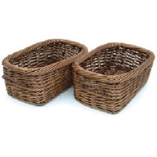 Neu Home Rustic Willow Long Baskets, Set of 2