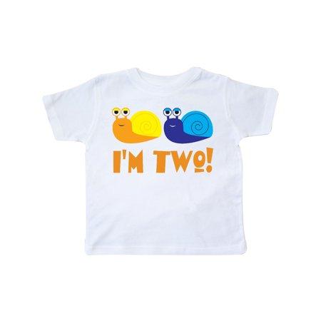 Cute 2nd Birthday Snails 2 Year Old Boy Toddler T-Shirt - Cute 2 Year Old Boy