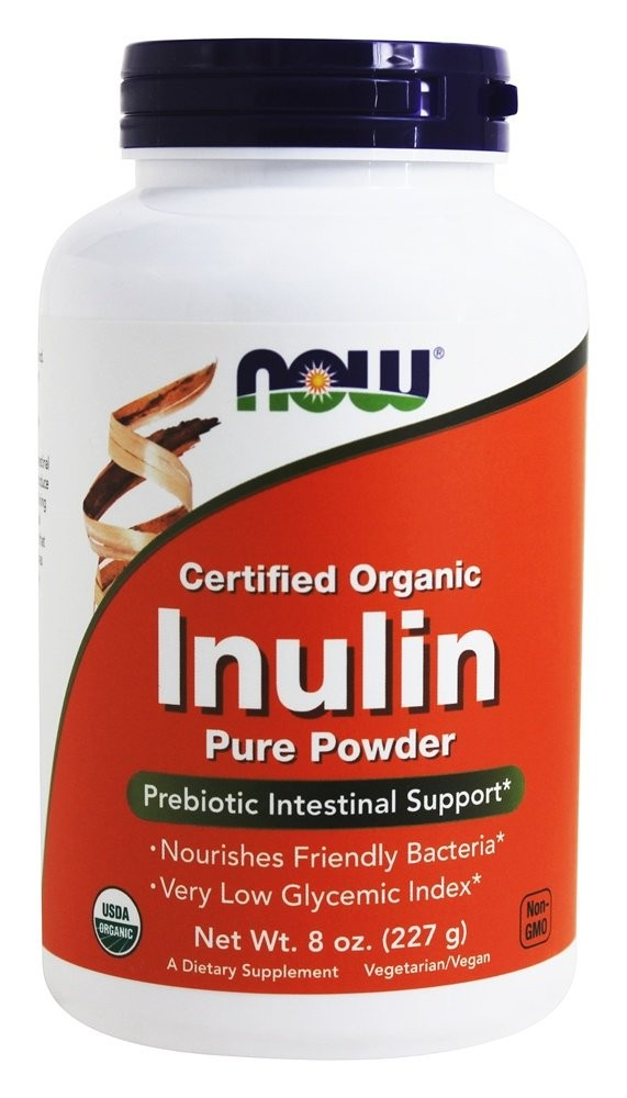 Now Foods Organic Inulin Pure Powder 227 g, 8 oz-2 Pack