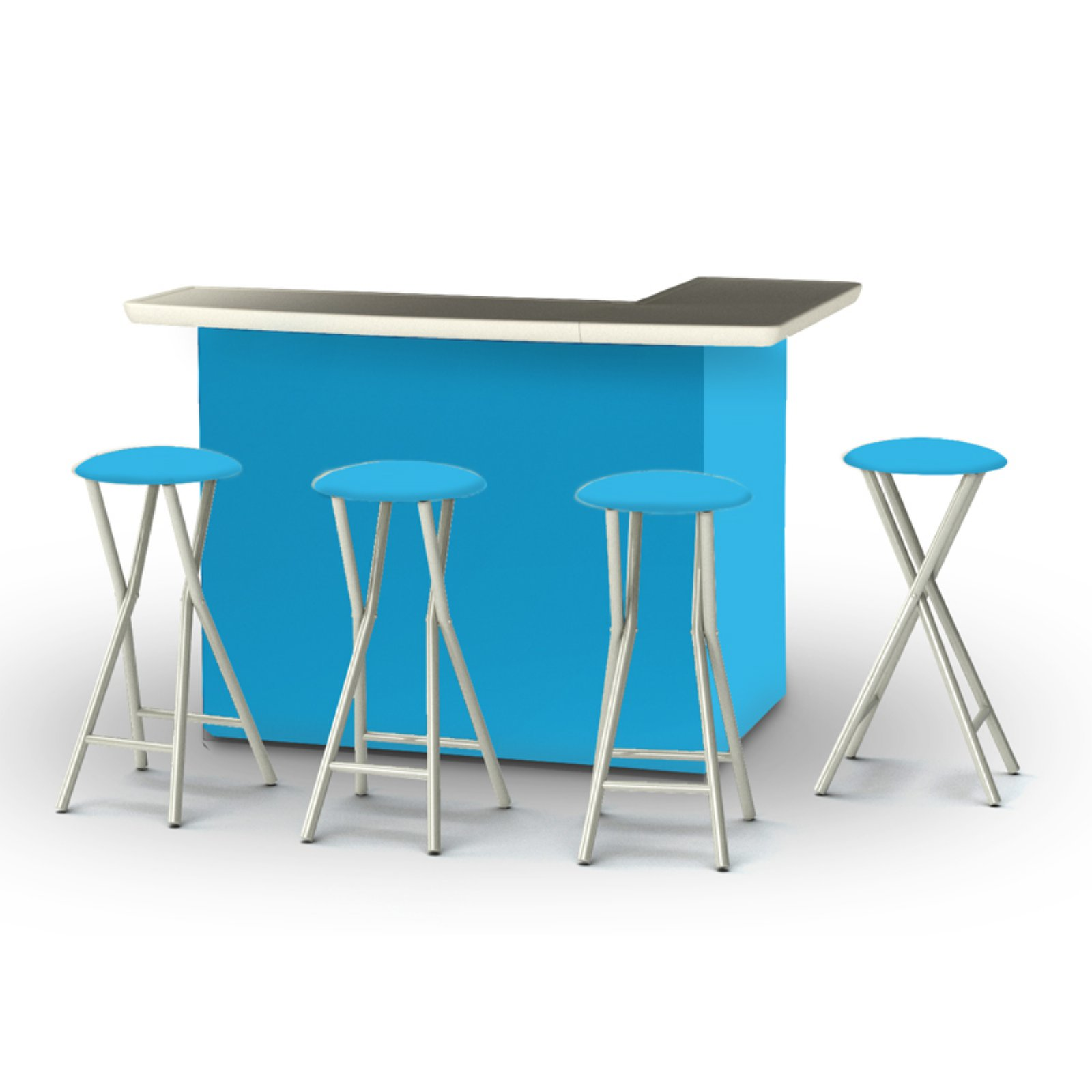 Best of Times Solid Patio Bar and Tailgating Center with 4 Bar Stools by Best of Times LLC