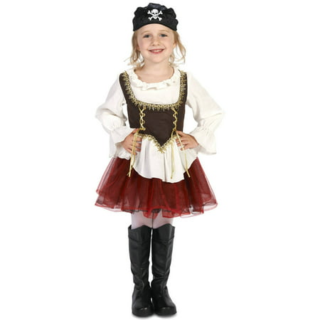 Pirate with Tutu Halloween Costume Accessory Girl Toddler Halloween Costume, Size 3T-4T
