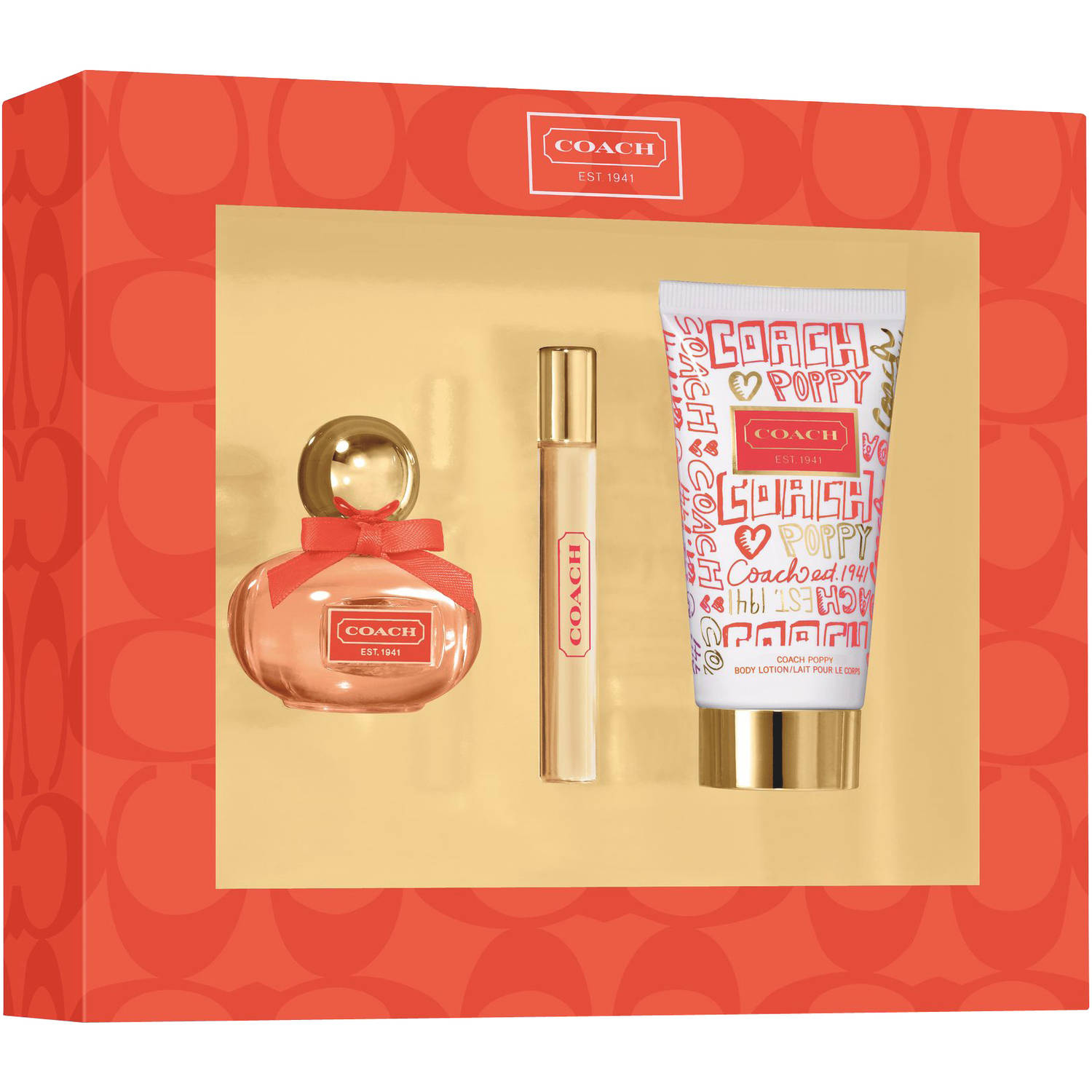 Coach Poppy Fragrance for Women Gift Set, 3 pc