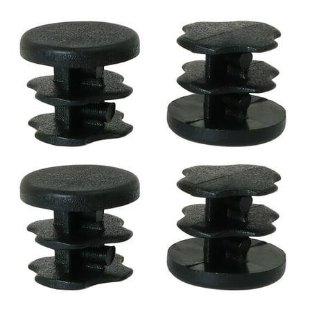 "1/2"" 0.5"" OD Plastic Tube Inserts Pipe 4pcs 0.35""-0.43"" Inner Dia Desk Leg Caps - image 7 of 7"