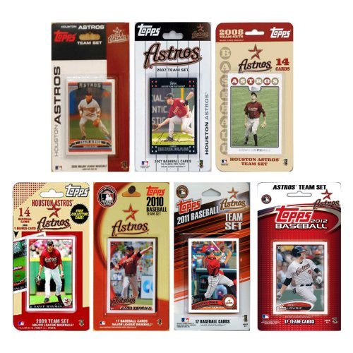 MLB Houston Astros 7 Different Licensed Trading Card Team Sets