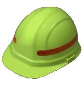 Reflective 360 degree stripes for hard hats (orange)