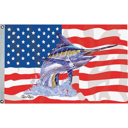 Taylor carey chen us fish flag for American flag fish