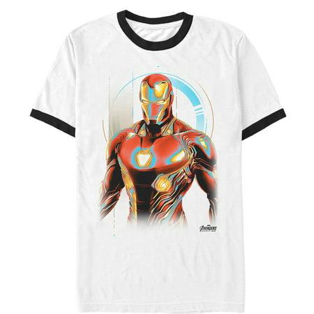 Marvel Men's Avengers: Infinity War Iron Man Future Ringer T-Shirt