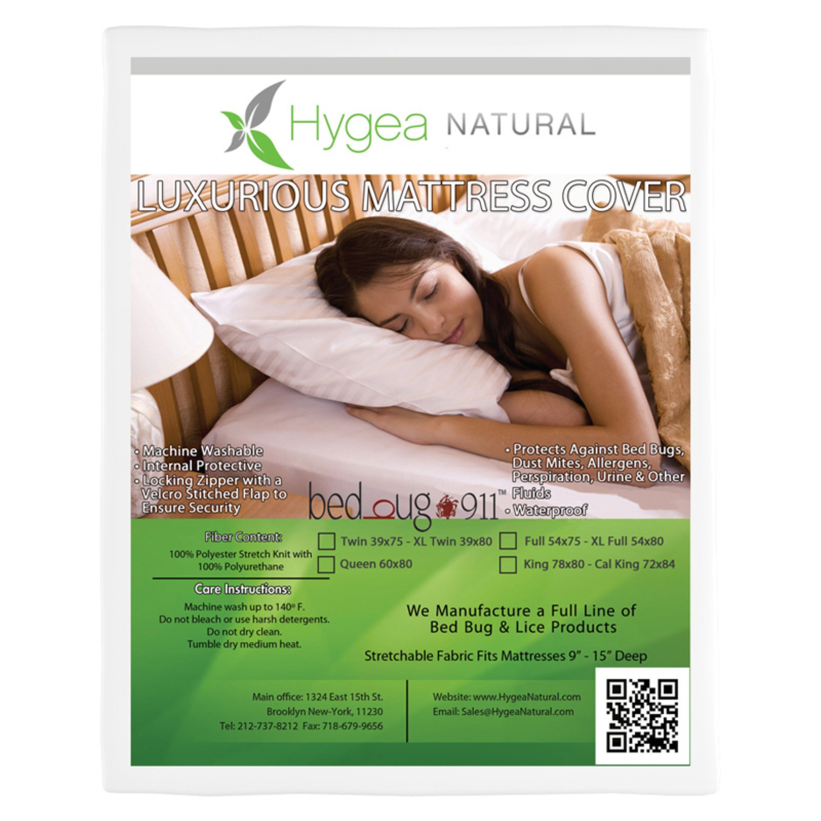 Bed Bug 911 Hygea Mattress Cover