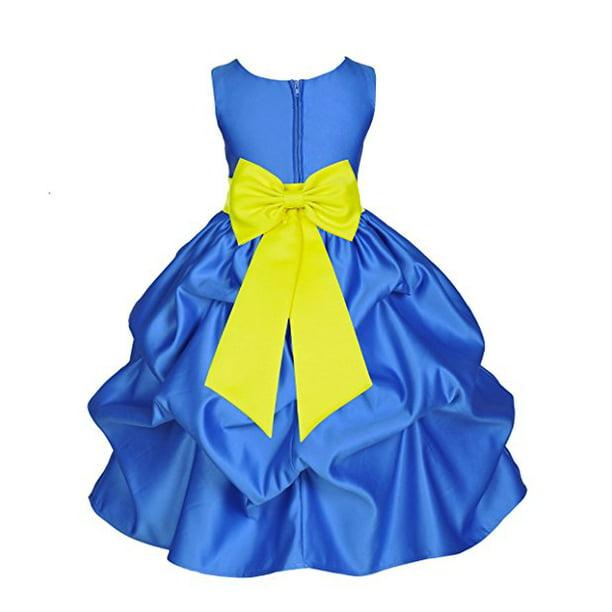 Ekidsbridal Ekidsbridal Royal Blue Satin Pick Up Flower Girl Dress Toddler Girl Dresses Junior Bridesmaid Dress Pageant Gown Birthday Girl Dress Communion Dress Baptism Dress Christening Dress Daily Dresses 208t Walmart Com,Camo Wedding Dress Orange