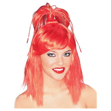 Adult Womens Red Genie Costume Ponytail Wig](Adult Genie)