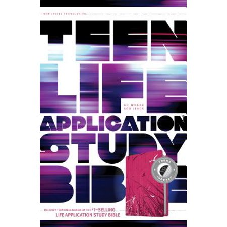 NLT Teen Life Application Study Bible, Index (LeatherLike, Pink, Indexed) - Pink Teens