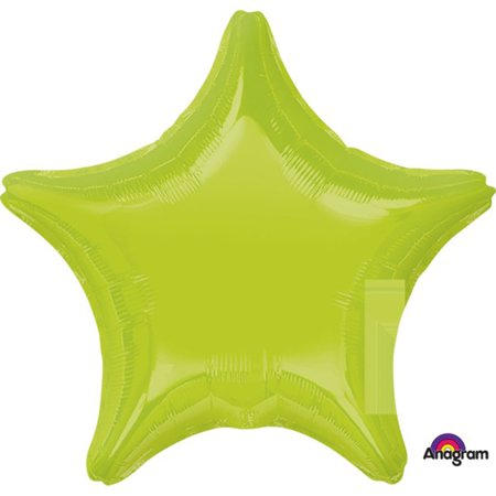 Anagram Solid Color Star Shape Mylar Helium Quality 19