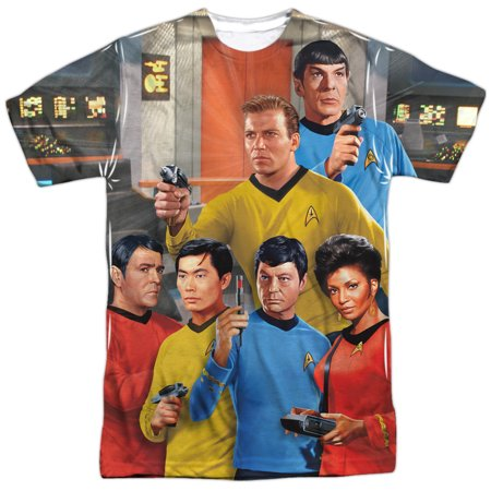 - Star Trek Sci-Fi Action TV Series Starship Crew Adult Front Print T-Shirt