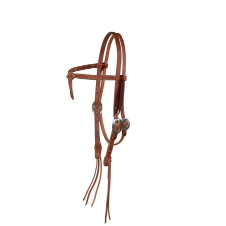 Berlin Custom Leather Headstall Hermann Oak Knot Latigo Tie H1205 (Latigo Leather Tie)