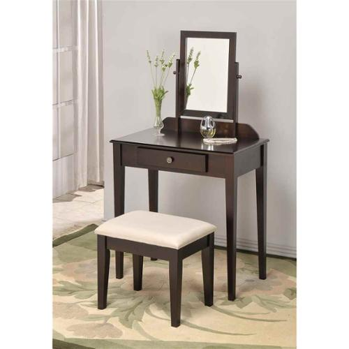 Space Saver Wood Vanity and Vanity Bench Set