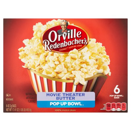Orville Redenbachers Movie Theater Butter Microwave Popcorn  6 Ct